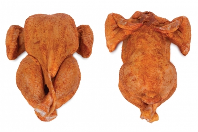 Oven-ready chicken, without neck and  giblets, seasoned ( TENDER CHICKEN )